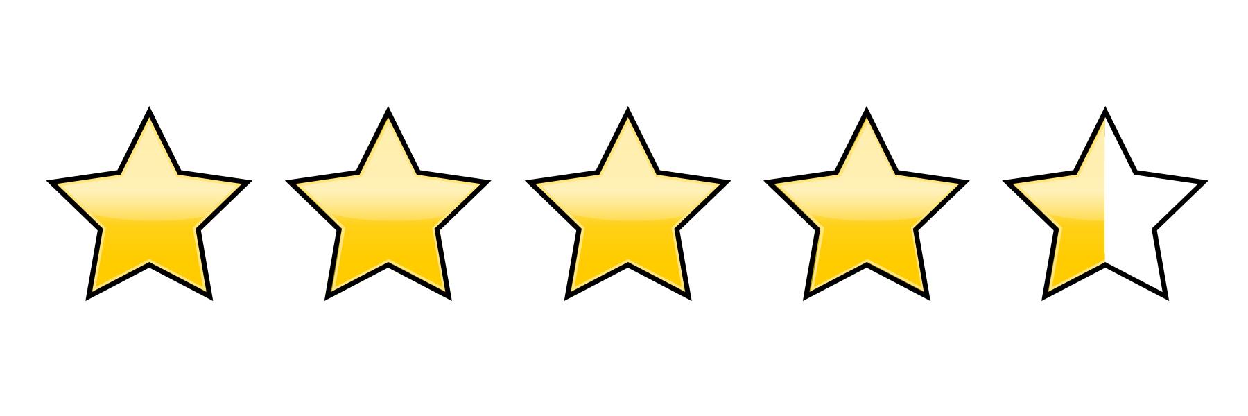 4,5 of 5 stars